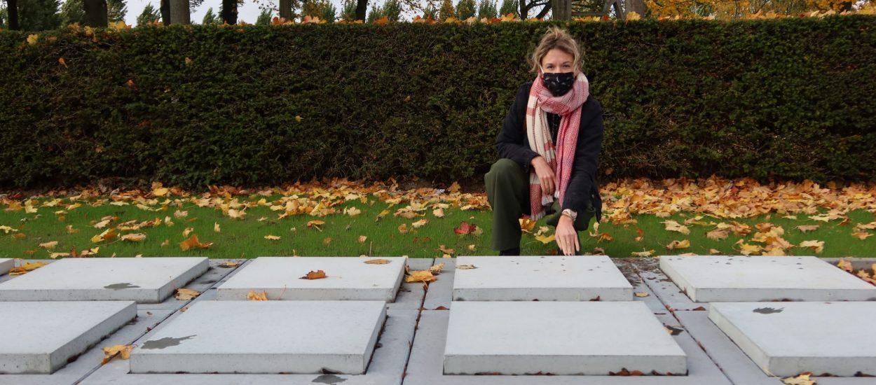 schepen Vanmarcke op de stedelijke begraafplaats - uitbreiding urnenveld